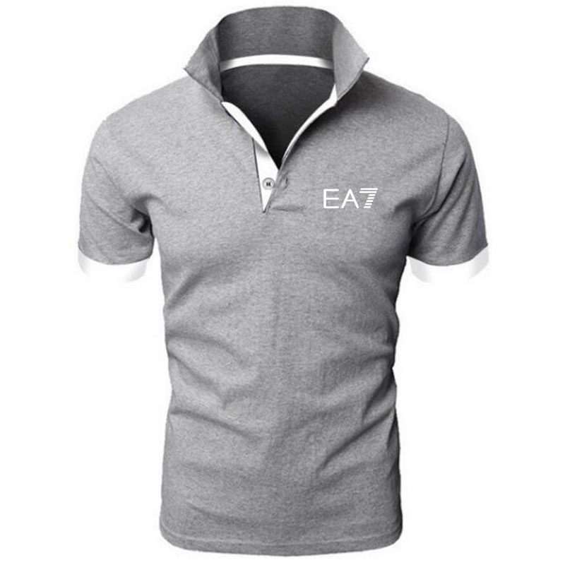 2019 Homens de Roupas de Marca Polo Homens Da Camisa do Negócio Casual Masculino Sólida Camisa Pólo de Manga Curta Dos Homens de Alta Qualidade Roupas