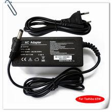 65 w carregador adaptador ac portátil para toshiba satellite C655-S5206 L655-S5154 L675D-S7053 1135-s155 carregadores portatiles