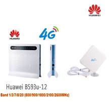 HUAWEI B593 LTE CPE 4G Router with SIM Card Slot B593u 12 Dual 35dBi Antenna 3G