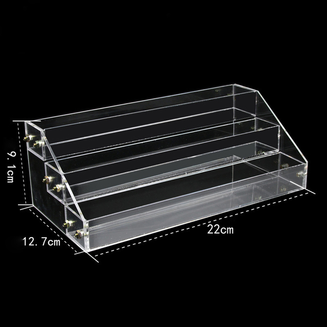Nail Polish Shelves Organizador Acrylic Display Stand Rack Vernis Ongle Varnishes Tool Showcase Clear Shelf Storage Racks Holder