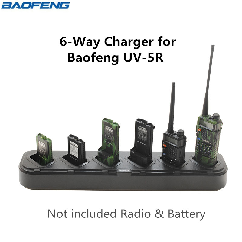 Baofeng Six 6 Way Universal Rapid Multi Charger UV 5R U1 Chargers For BaoFeng UV 5R