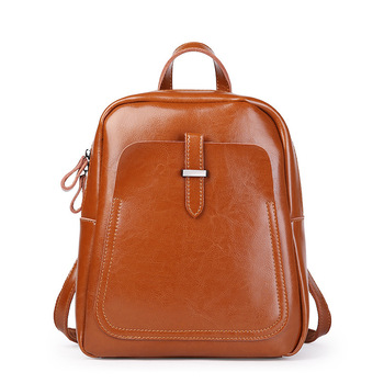 2017 New arrival women backpack genuine leather women bags designer casual real leather laptop backpack solid female trave bag