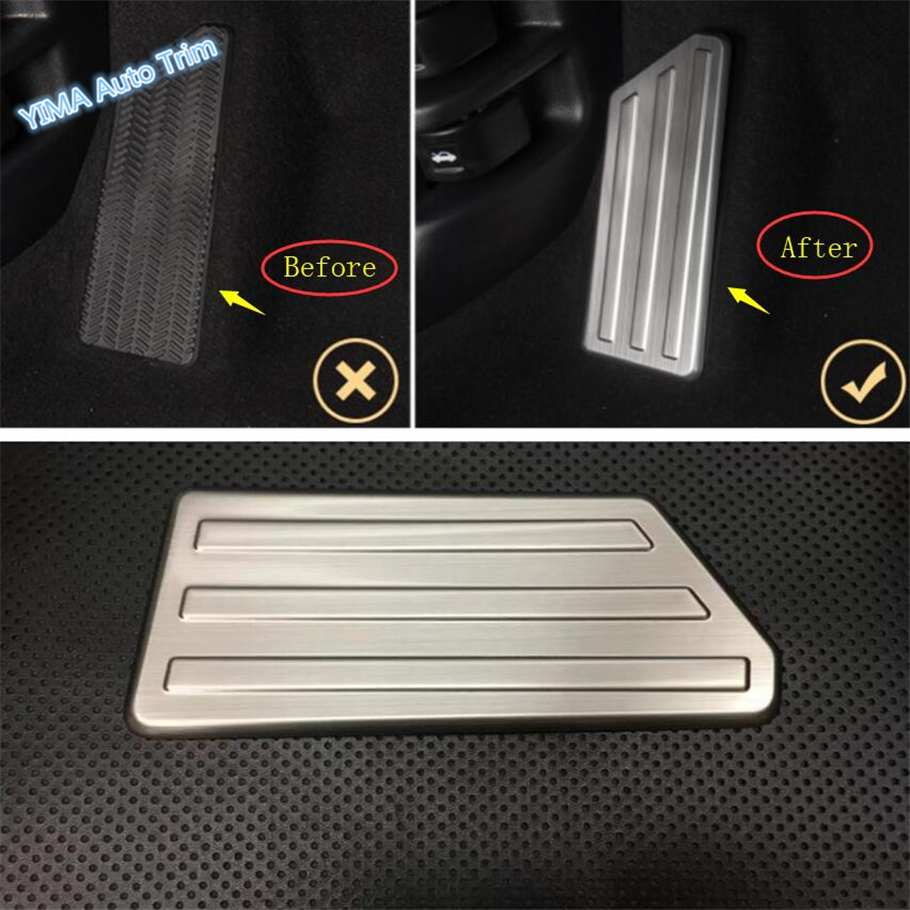 Lapetus Car Styling Left Foot Pedal Rest Plate Cover Trim Fit For Honda CRV CR V 2017 2018 2019 Stainless Steel Interior Kit in Interior Mouldings from Automobiles Motorcycles