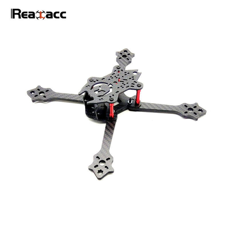 Realacc 210XT 210mm Carbon Fiber 4mm Arm X Type Frame Kit For RC Multicopter Models Camera Mini Motor Spare Part DIY realacc kt100 100mm carbon fiber frame kit for rc quadcopter multirotor fpv camera drone x type frame accessories purple