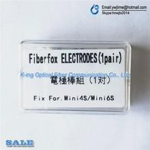 Fiberfox Mini 4S MINI 6S 5S S4 połączenie światłowodowe Splicer elektrody z włókna maszyna do spawania elektrody do MINI4S MINI6S mini 5S