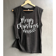 Black White Deer Streetwear Gothictops Merry Christmas Tanks Cute Sexy Top Womens Clothing Women Tank Tops Plus Size
