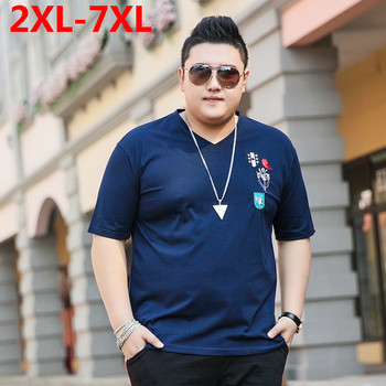 Plus size 10XL 9XL 8XL big size T Shirt Men 2018 Summer New Cotton Loose Fit Fashion Tops Brand Clothing t-shirt Short sleeves