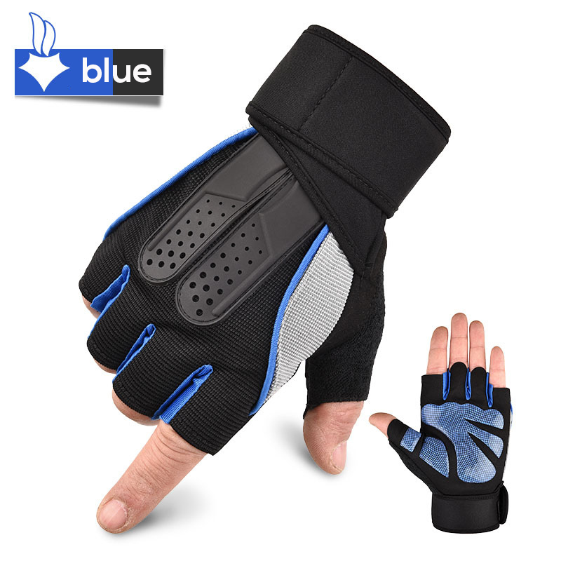 1 Pairs Elastic Gym Gloves Heavyweight Sports Exercise Weight Lifting Gloves Body Building Training Fitness Gloves For Men Women