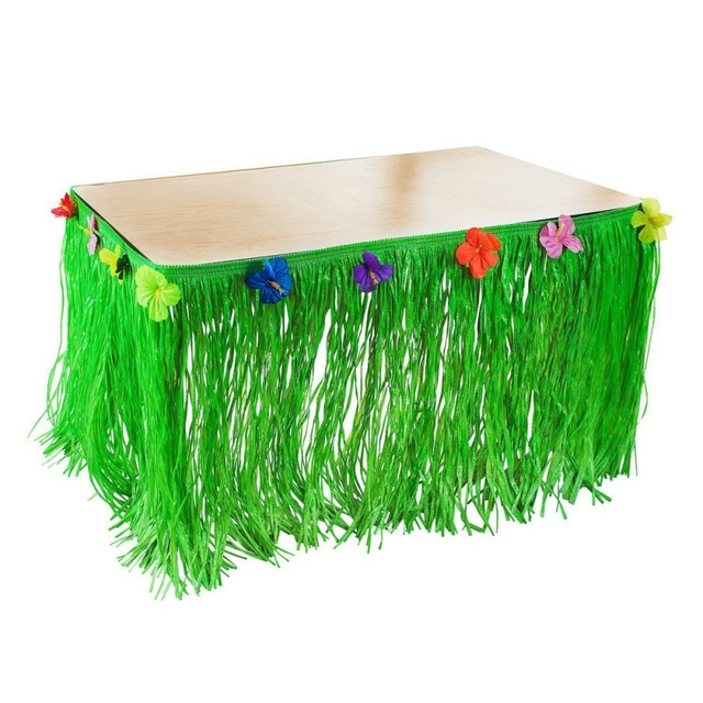 Artificial Grass Table Skirt Hawaiian Tropical Flower Tableware Luau Party Decor Colored Flower Inlaid PP Artificial  sc 1 st  AliExpress.com & Artificial Grass Table Skirt Hawaiian Tropical Flower Tableware Luau ...