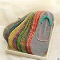 10 PCS = 5 pairs feminino linha grossa de silicone coloridas meias de algodão boca rasa meias invisíveis Verão meias