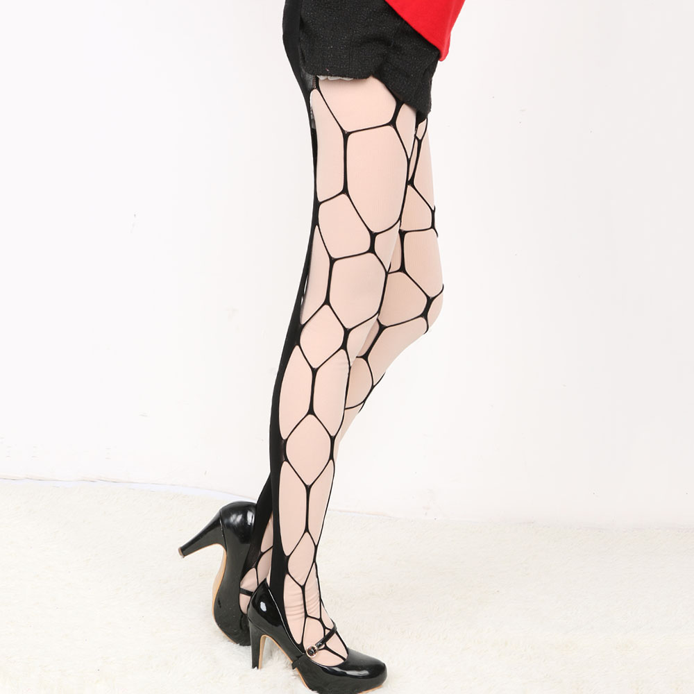 c370232f4 1PC Sexy Big Fishnet Stockings Black Color Sultry Hexagon Net Pantyhose  Tight-in Tights from Underwear   Sleepwears on Aliexpress.com