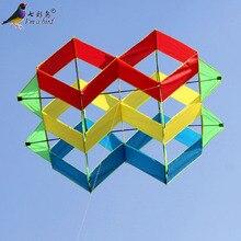 Уличный Забавный спортивный высококачественный 3D многоцветный воздушный змей хороший Летающий