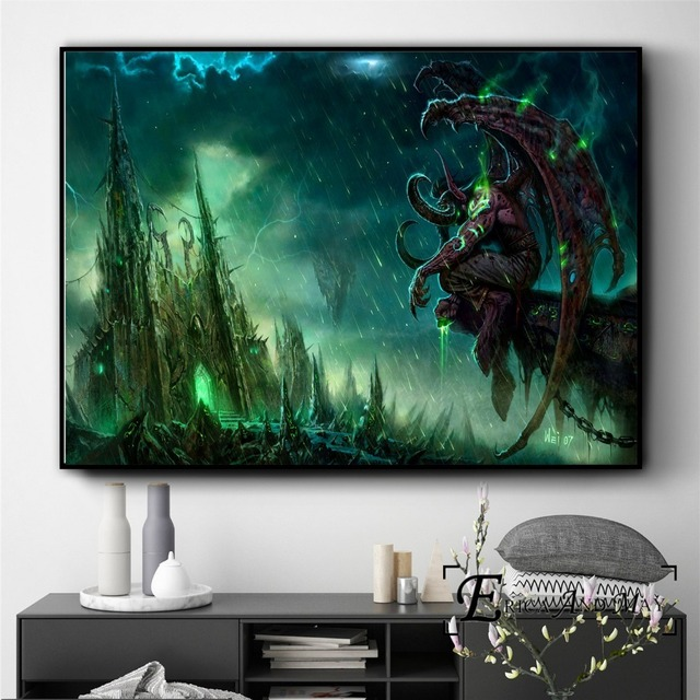 Gargoyle Monster WOW Game Figure Posters And Prints Wall Art Decorative Picture Canvas Painting For Living Room Home Decor