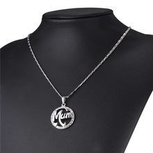 Necklace & Pendant. Round Rhinestone Crystal