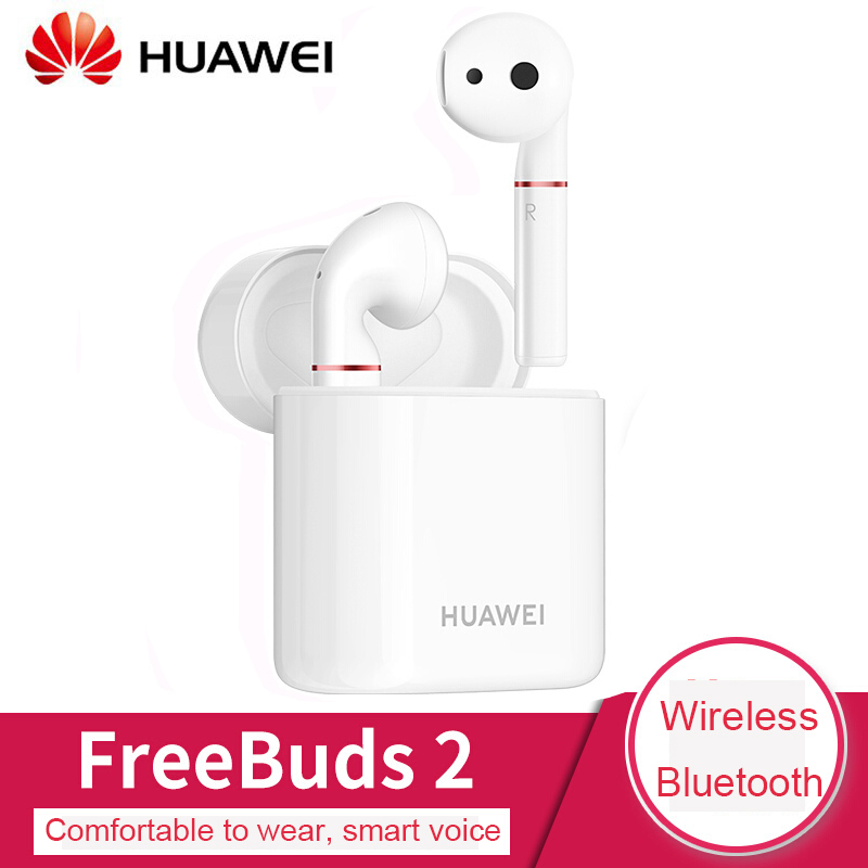 Original Huawei FreeBuds 2 Earphone Bluetooth Wireless connect with Mic Wireless charging headset Stereo sound for phone|Bluetooth Earphones & Headphones| |  - title=