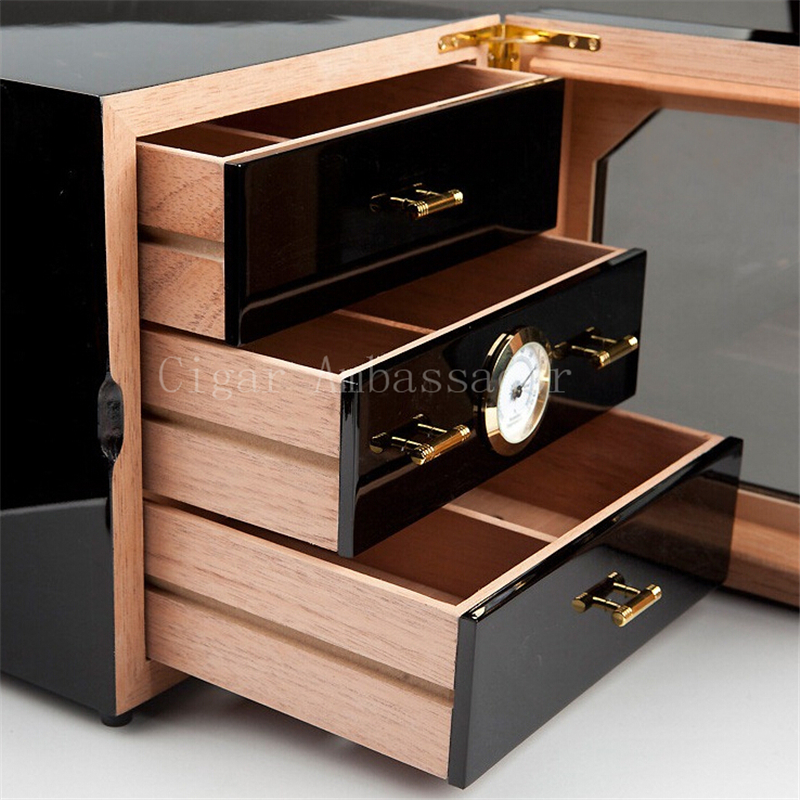 Aliexpress.com : Buy COHIBA Luxury Black High Glossy Finish Wooden ...