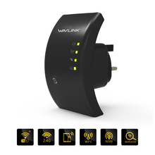 Wavlink N300 wifi repeater Mini WiFi Range Extender  Wireless Signal Booster Build in Integration Antennas WPS Protection- Black