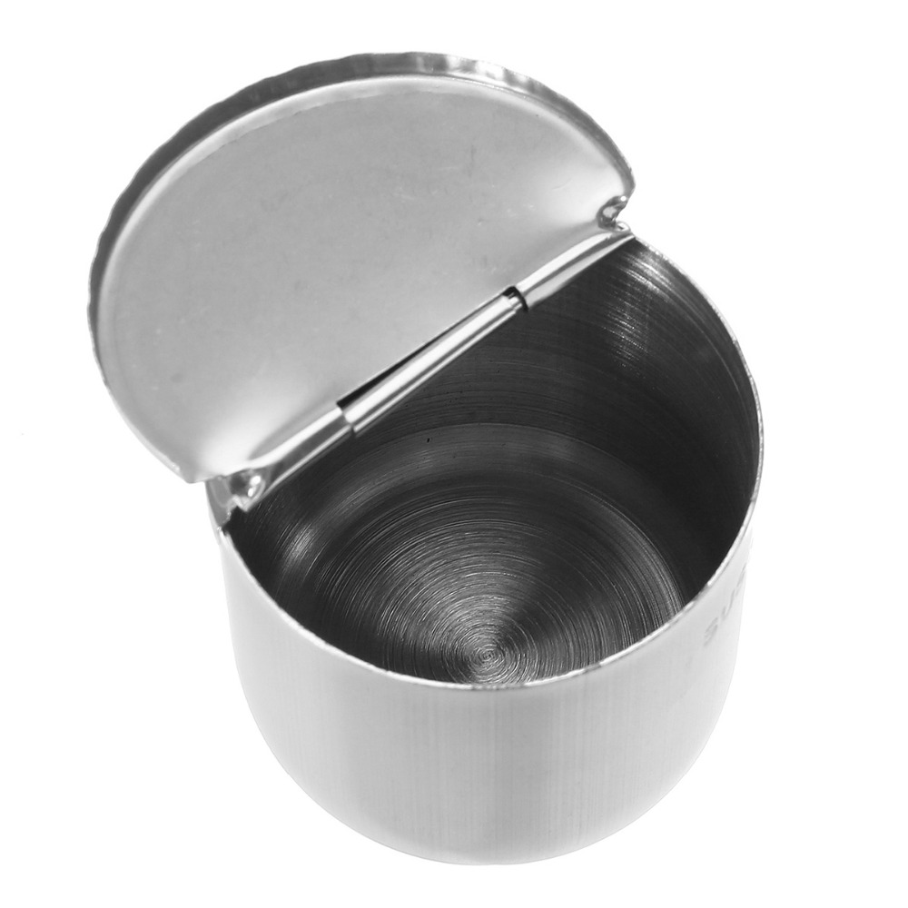 5*5cm Stainless Steel Medical Dental Cotton Tank Alcohol Disinfection Jar Half Clamshell Oral Ointment Cylinder Dentist Material