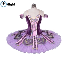 professional tutu purple ballet costumes pancake child platter BT9033