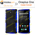 Oneplus one caso color mix tpu & pc dual armadura de volta caso capa com suporte para oneplus one smartphone frete grátis