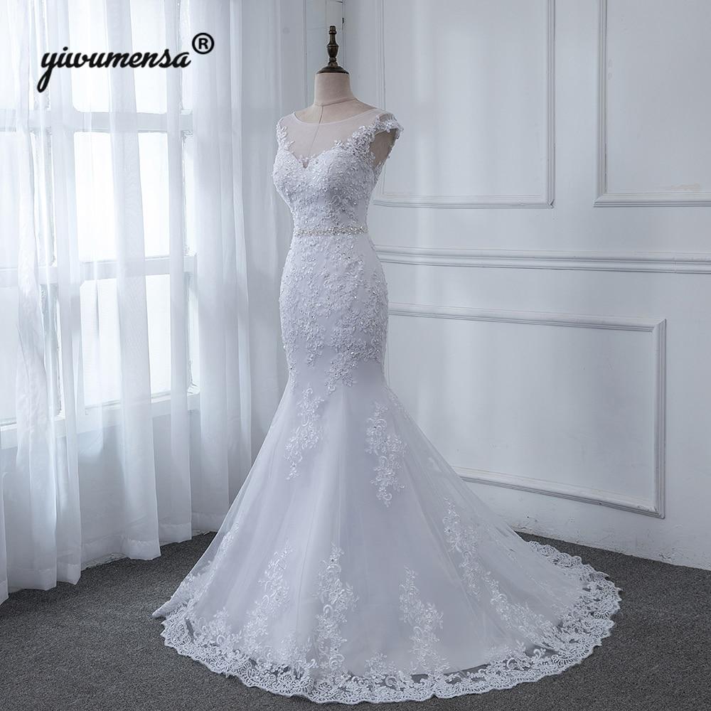 Beaded Illusion Back Wedding Dress: Aliexpress.com : Buy Luxury Lace Mermaid Wedding Dresses