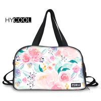 HYCOOL Pink Plush Florals Lady Gym bag Training Fitness Wear Resistant Travel Handbag Female Yoga Tote Outdoor Running Sport Bag