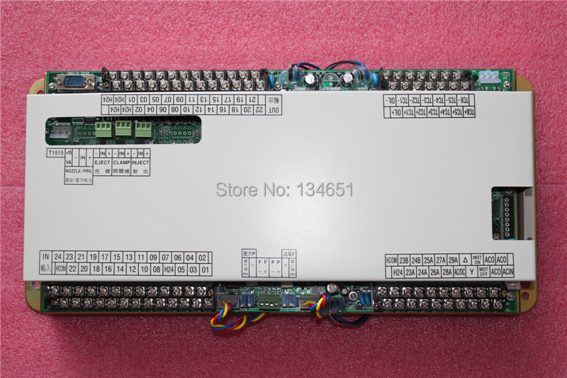 Techmation A62 A63 KJ50  IO Board With AD Card  , Controller , CPU Board  (A62 PLC )  For Haitian Injection Molding Machine