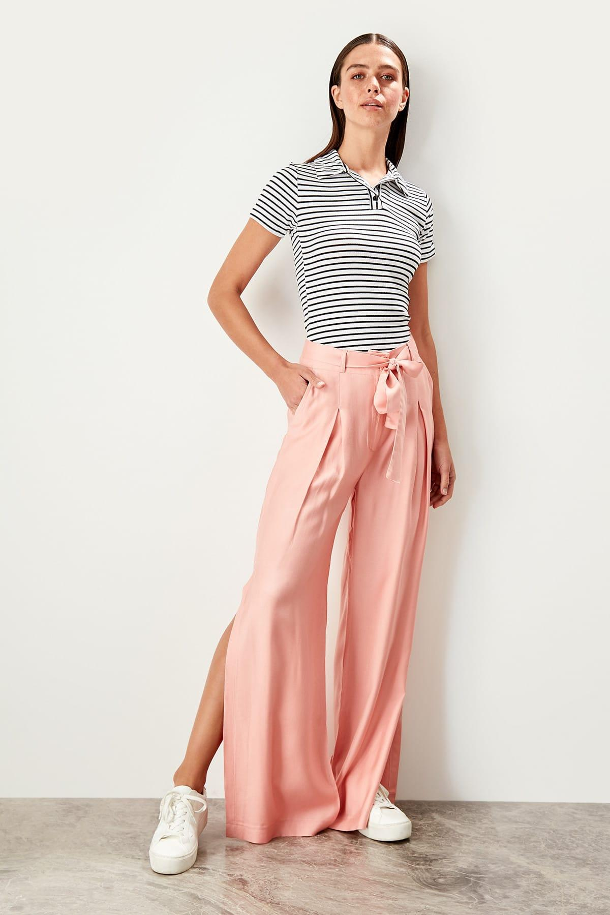 Trendyol Pink Arches Placketing Pants TWOSS19LJ0269