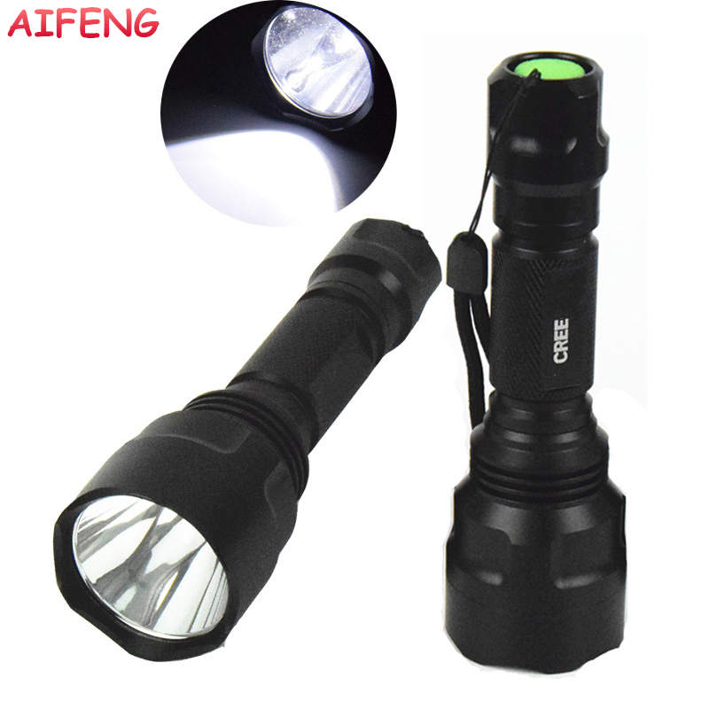 AIFENG Flashlight Led Cree Q5 T6 Flashlight Torch 18650 Battery Powered Powerful Led Flashlight 5 Mode For Camping Hunting Light