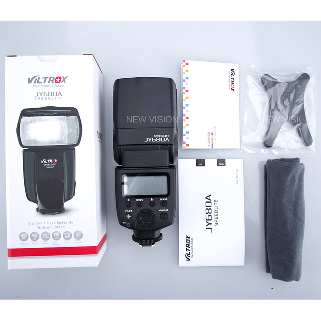VILTROX JY-680A Universal LCD Flash Speedlight for Canon Nikon Pentax Olympus Cameras,with Free Bounce Diffuser JY680A