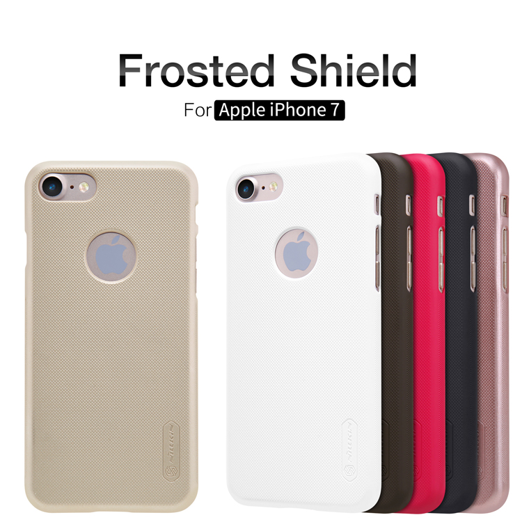 For iPhone 7 Case 4.7 inch Nillkin Super Frosted Shield Case For iPhone 7 Plastic Hard Back Cover Case with screen protector