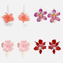 Ztech Chram Za Earrings 2019 Handmade Resin Flower Crystal Beads Statement Bridal Earring Party Pineapple Dangle Drop