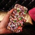Bling pérola caso diamante rosa capa para iphone 7 6 6 s plus 5S 5c se 4S samsung galaxy note 7 5 4 3 2 borda mais s4 s5 s6 s7 S3