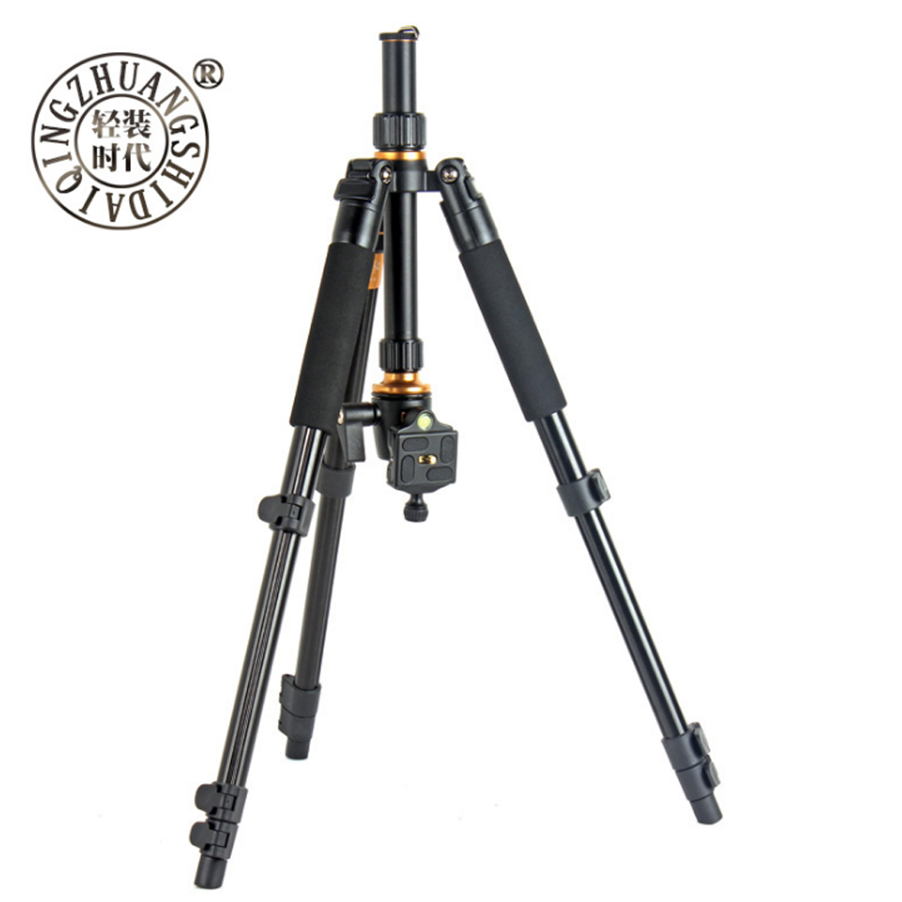 Beike QZSD Q555 Professional Aluminium Alloy Tripod Kit Monopod Ballhead Q.R.Plate For DSLR Camera Light Compact Portable Stand