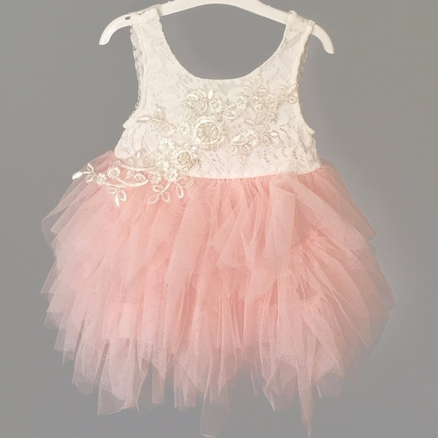 3414472fc6c Enfants Tutu robe pour filles dentelle broderie robe fantaisie 1st bébé fête  d anniversaire Costume