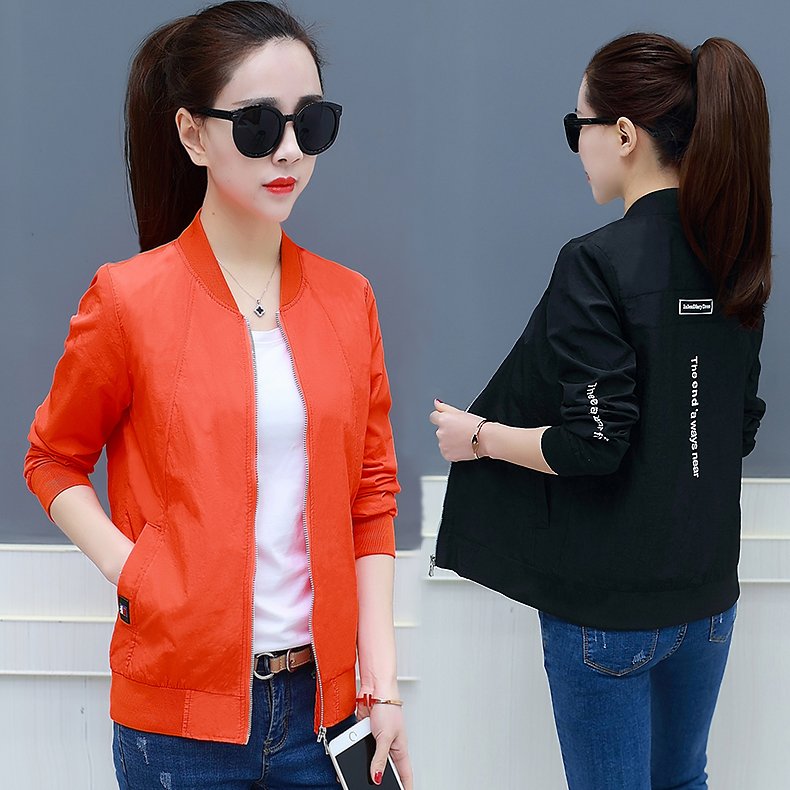 Korean Fashion women basic coat casual thin baseball jacket Wild Spring autumn Long Sleeves Coat Jackets sexy slim outwear ...