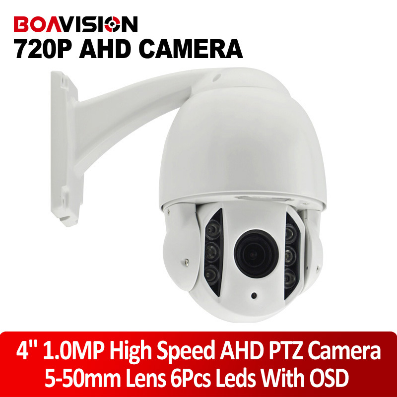 HD 1.0MP Outdoor 5-50mm 10x Optical Zoom CCTV 720P 4 inch Mini High Speed Dome AHD PTZ Camera Nightvision IR 60M With OSD Menu 4 in 1 ir high speed dome camera ahd tvi cvi cvbs 1080p output ir night vision 150m ptz dome camera with wiper
