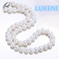 Highest quality 8 9mm perfect bread shaped natural pearl necklace fashion necklace For women Mother's gift Free shipping