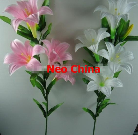 Wholesale 6 Head Silk Lily Flowershigh 100cmwedding Bouquetshome Decoration