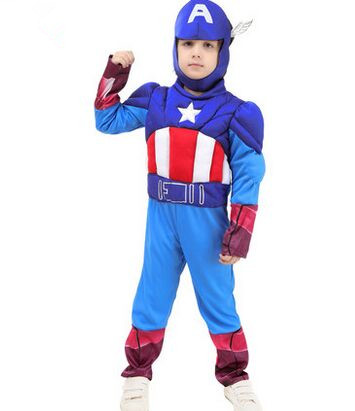 iron man costume iron man cosplay blue american captain captain costume for boys halloween costumes for boys super costume
