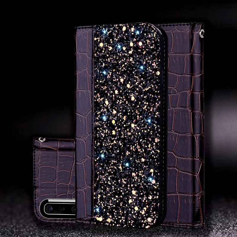 For <font><b>Samsung</b></font> Galaxy A50 A30 <font><b>Case</b></font> Cover Shining Protector Etui Coque For <font><b>Samsung</b></font> A30 A50 <font><b>Leather</b></font> <font><b>Flip</b></font> <font><b>Case</b></font> Magnetic Fundas Shell image