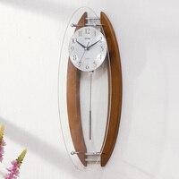Saat Clock Wood Wall Clock Reloj Duvar saati digital wall clocks horloge murale Relogio de parede Reloj de pared Living room