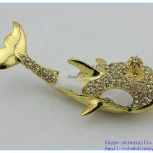 Creative Home Decoration Whale Shape Jewelry Storage Box Earring Trinket