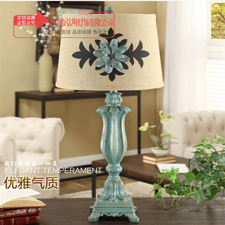 TUDA American Country Style Vintage Table Lamp For Living