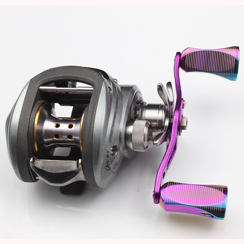 DEUKIO Rainbow Color Reel Handle Fishing Rocker Reel Accessory Fishing Rocker