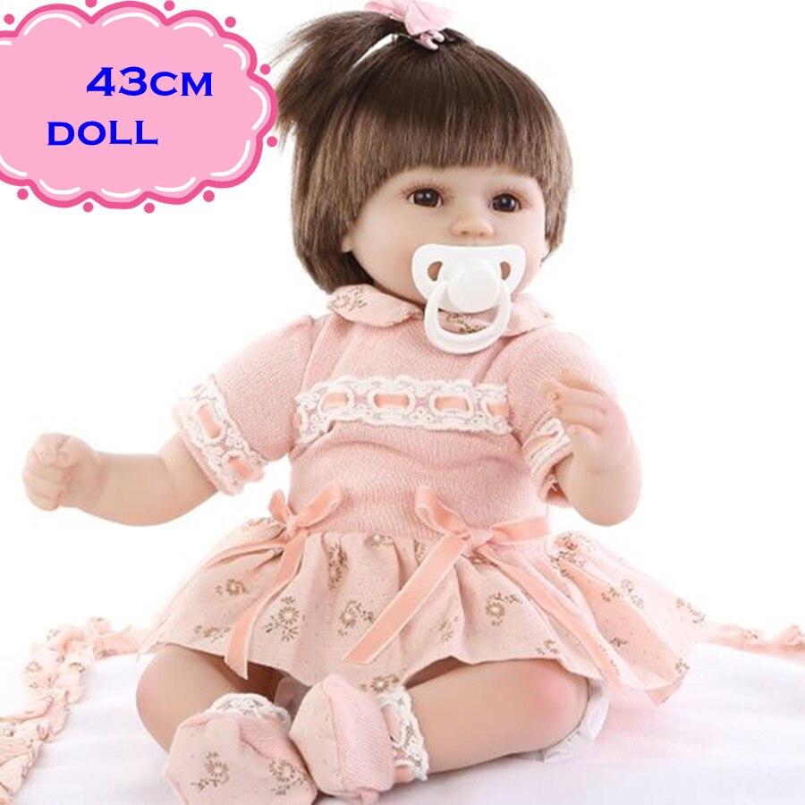 Newest Child Playmate NPK Silicone Reborn Baby Dolls About 18inch Baby Dolls Newborn With Soft Pretty