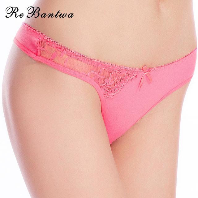 Rebantwa 10pcs Lot Women Sexy G-strings Thongs Strings Cotton Woman Underwear Intimates Lingerie Ladies Panties Tangas for Women