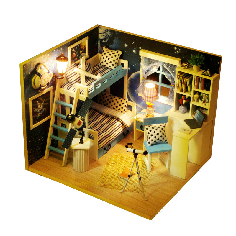 Buy diy miniature doll house kits space for Dream house 3d