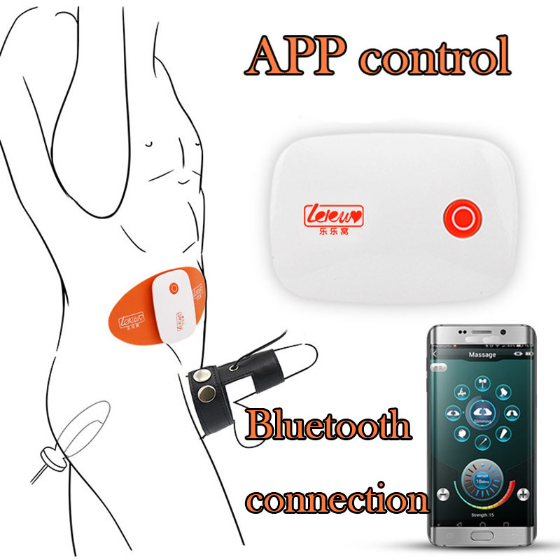APP Electro Shock Host Remote Control Anal Plug Electro Shock Scrotum Ring Penis Ring Big Butt