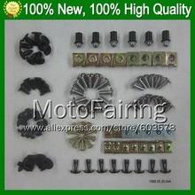 Fairing bolts full screw kit For KAWASAKI NINJA ZX-7R 96-03 ZX 7 R ZX 7R ZX7R 1996 1997 1998 1999 ZX750 A144 Nuts bolt screws